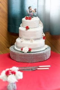 One side of the Wedding Cake