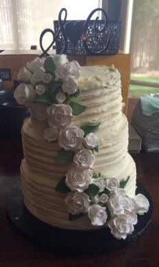 C and S's White Chocolate Wedding Cake