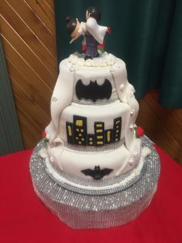 One side of Adam and Anita's Wedding Cake